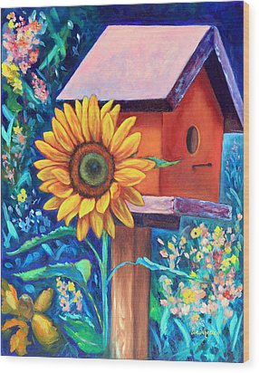 The Sunflower Suite Wood Print by Eve  Wheeler