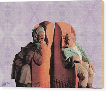 The Sunny Couple Wood Print by Aliceann Carlton