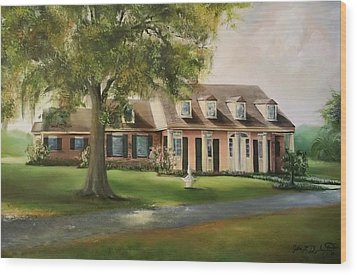The Sunrise House Wood Print