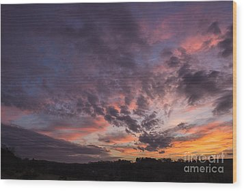 The Sunsets Glow Wood Print by Michael Waters