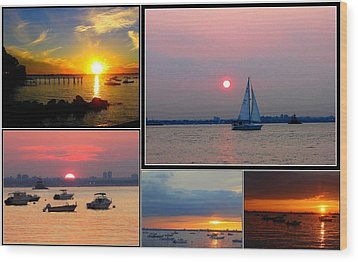 The Sunsets Of Long Island Wood Print by Dora Sofia Caputo Photographic Art and Design