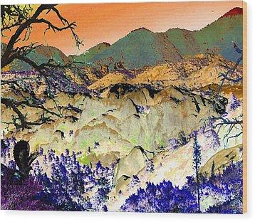 The Surreal Desert Wood Print