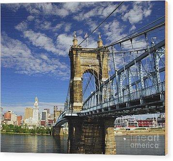 The Suspension Bridge Wood Print