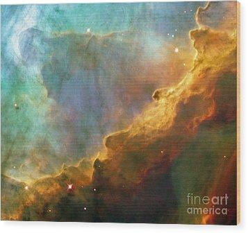 The Swan Nebula Wood Print