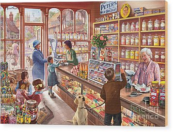 The Sweetshop Wood Print by Steve Crisp