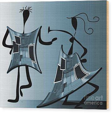 The Swingers Wood Print by Iris Gelbart