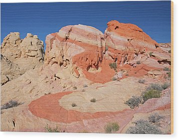 The Swoosh At The Valley Of Fire Wood Print by Steve Wolfe