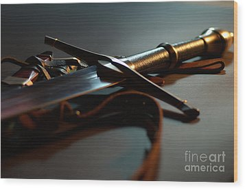 The Sword Of Aragorn 1 Wood Print by Micah May
