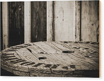 Wood Print featuring the photograph The Table by Amber Kresge