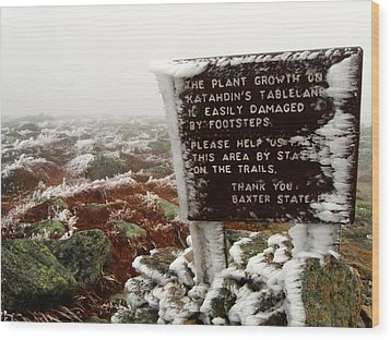 The Tablelands - Mt. Katahdin Wood Print by Doug McPherson