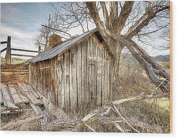 The Tack Shed Wood Print
