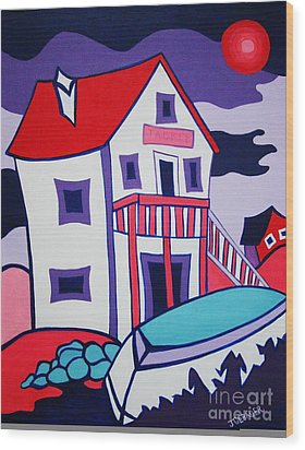 The Tackle House Wood Print by Joyce Gebauer