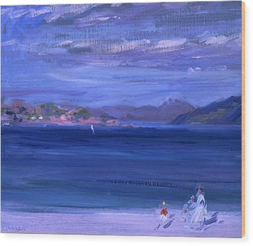 The Tale Of Mull From Iona Wood Print by Francis Campbell Boileau Cadell