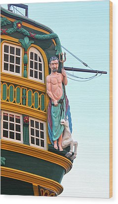 The Tall Clipper Ship Stad Amsterdam - Sailing Ship  - 01 Wood Print by Gregory Dyer