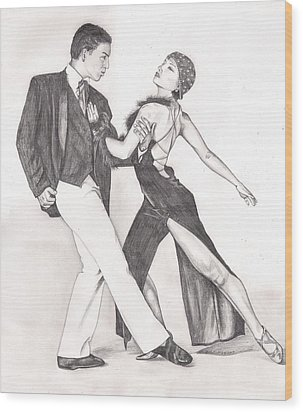 The Tango Wood Print by Beverly Marshall