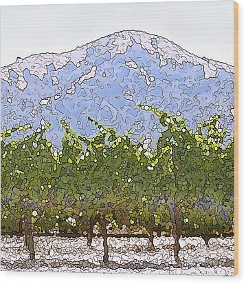 The Taste Of Wine Wood Print by Artist and Photographer Laura Wrede