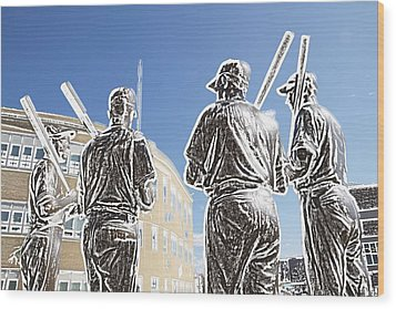 The Teammates Wood Print by Alice Gipson