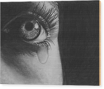The Tear 2 Wood Print by Andrew Dyson