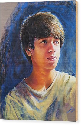 The Teenager Wood Print by Arti Chauhan