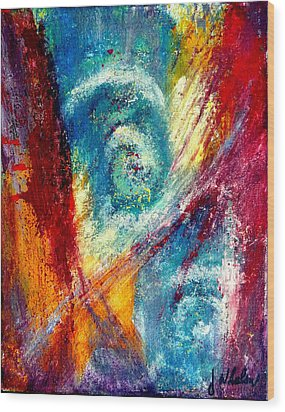 Wood Print featuring the painting The Tempest by Jim Whalen