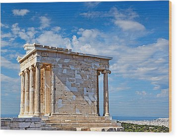 The Temple Of Athena Nike - Greece Wood Print by Constantinos Iliopoulos