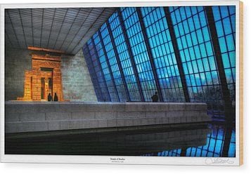 The Temple Of Dendur Wood Print by Lar Matre