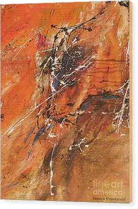 The Temptation -abstract Art Wood Print by Ismeta Gruenwald