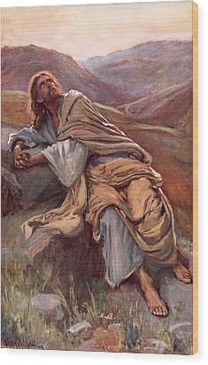 The Temptation Of Christ Wood Print by Harold Copping