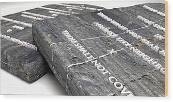 The Ten Commandments Wood Print by Allan Swart