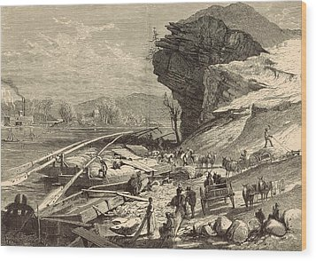 The Tennessee At Chattanooga 1872 Engraving Wood Print by Antique Engravings