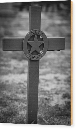 Wood Print featuring the photograph The Texas Ranger by Amber Kresge