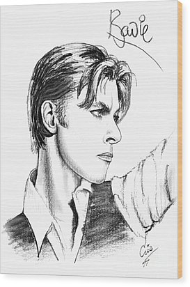 The Thin White Duke Wood Print by Cristophers Dream Artistry