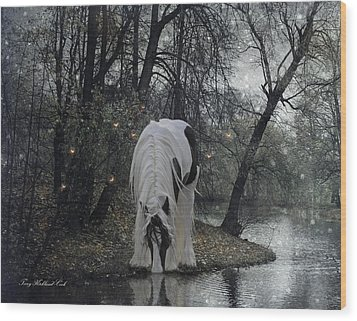 The Thirst Wood Print by Terry Kirkland Cook
