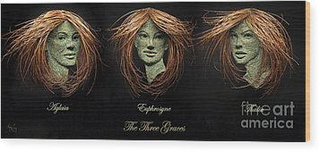 The Three Graces Wood Print by Adam Long