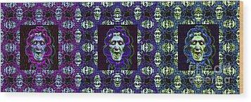 The Three Medusas 20130131 - Horizontal Wood Print by Wingsdomain Art and Photography