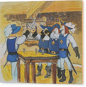 The Three Musketeers Wood Print