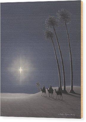 The Three Wise Men Wood Print by Walter Lynn Mosley