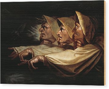 The Three Witches Wood Print by Henry Fuseli