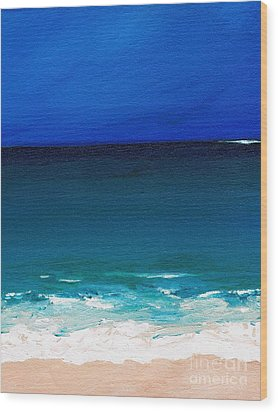 The Tide Coming In Wood Print by Frances Marino
