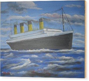 The Titanic Wood Print by M Bhatt