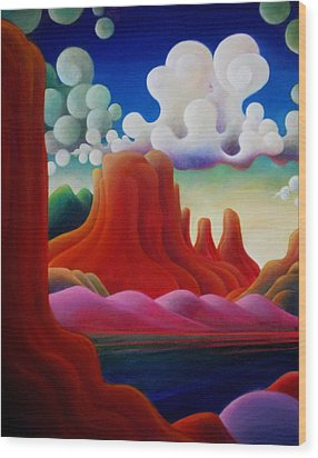 Wood Print featuring the painting The Tomb_lake Powell II by Richard Dennis