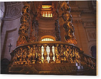 The Tombs At Les Invalides - Paris France - 011322 Wood Print by DC Photographer