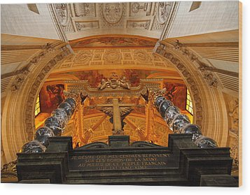 The Tombs At Les Invalides - Paris France - 011337 Wood Print by DC Photographer