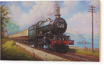 The Torbay Express. Wood Print by Mike  Jeffries