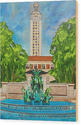 The Tower - Austin Texas Wood Print