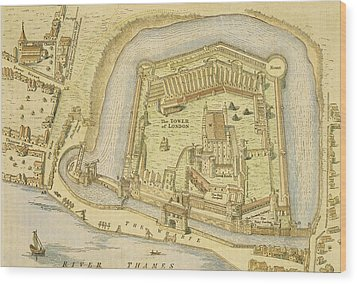 The Tower Of London, From A Survey Made Wood Print by English School