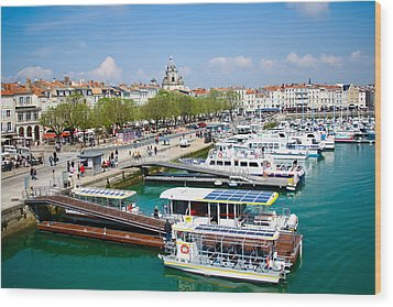 The Town And Port Of La Rochelle Wood Print