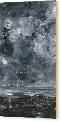 The Town Wood Print by August Johan Strindberg