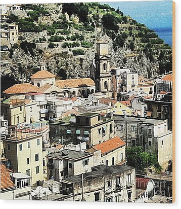 The Town Of Minori Wood Print by H Hoffman