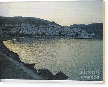 The Town Of Skopelos Wood Print by Katerina Kostaki